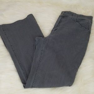 NYDJ size 8P gray mom jeans high rise straight leg